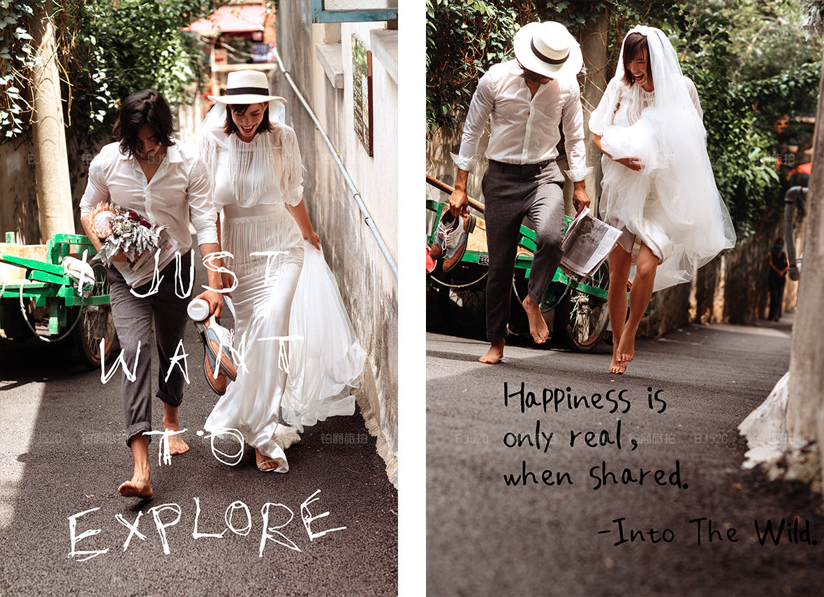 短发新娘婚纱照怎么设计造型?婚纱照风格有哪些