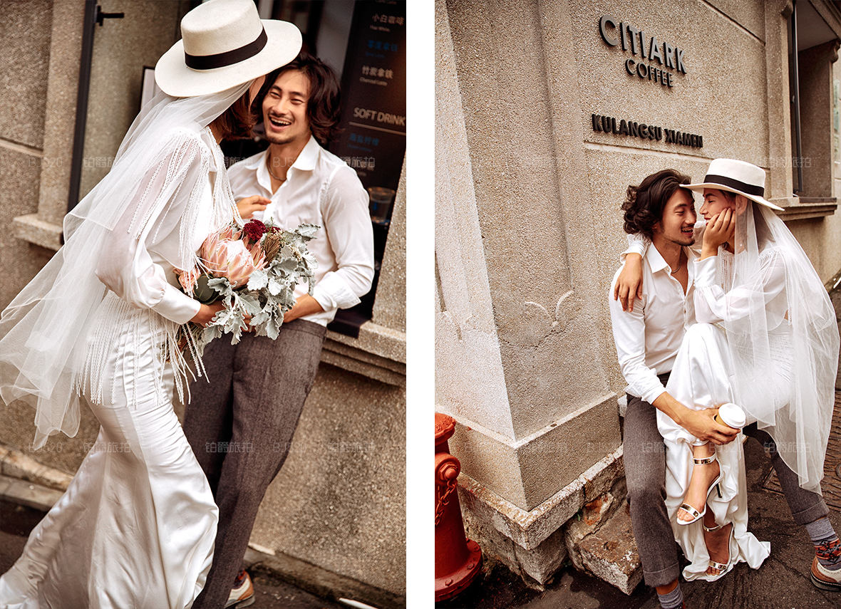 拍婚纱照怎么笑的自然
