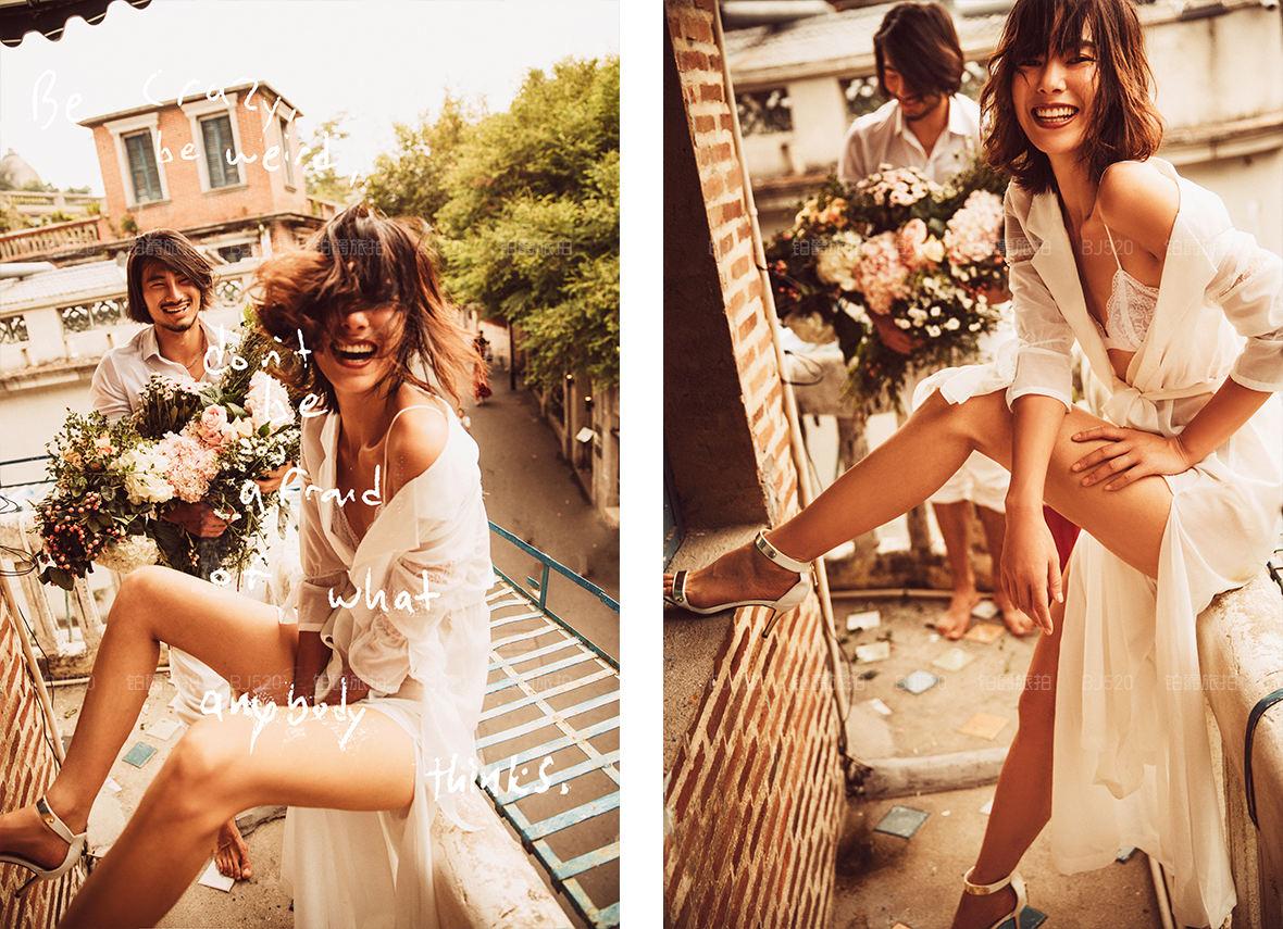 拍森系婚纱照的常用姿势