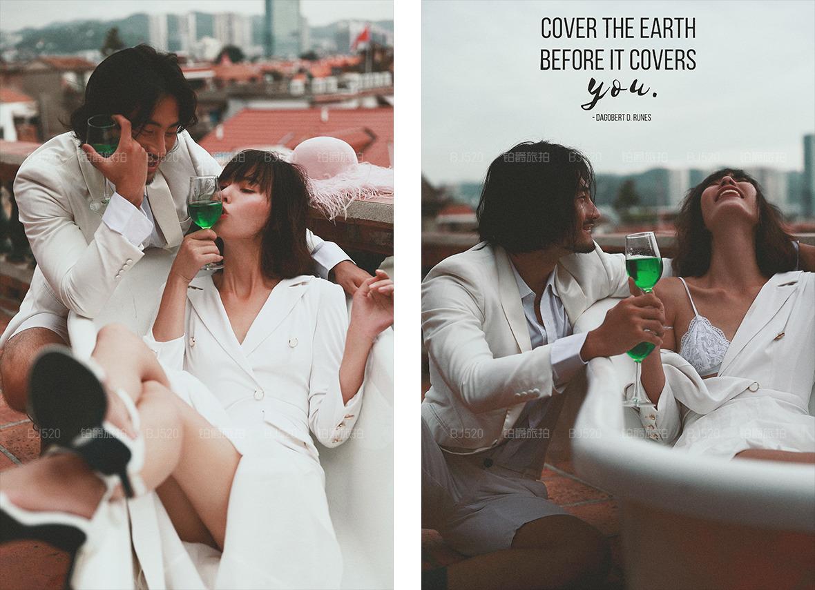 在厦门中山路街拍婚纱照的效果怎么样,好取景吗