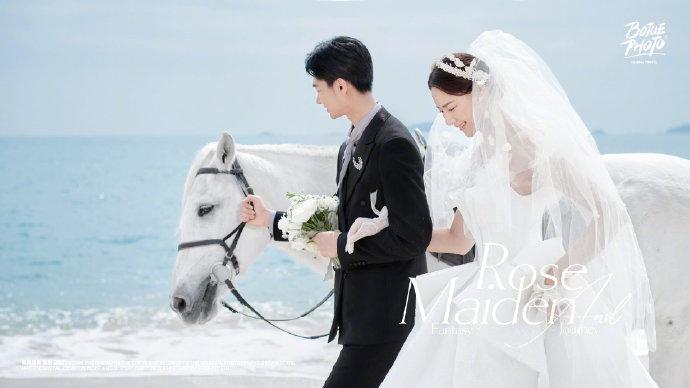 身骑白马,海边画沙,跟随铂爵旅拍打卡厦门唯美旅拍地